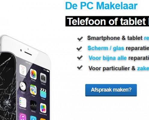 smartphone tablet reparaties